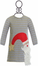 Mud Pie Girls Holiday Dress with Santa (Size 2T)