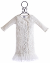 Mud Pie Girls Ivory Baby Gown
