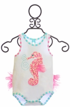 Mud Pie Girls Seahorse Infant Crawler