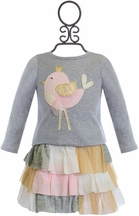 Mud Pie Girls Skirt Set with Chick in Tutu