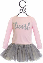 Mud Pie Girls Tutu Skirt and Twirl Top in Pink