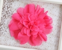 Mud Pie Hot Pink Flower Headband
