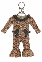 Mud Pie Infant Girls Romper Birds