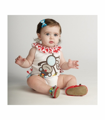 Mud Pie Infant Onesie Circus Monkey