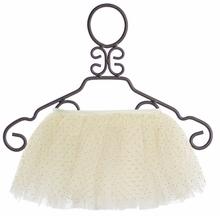 Mud Pie Ivory and Gold Mesh Tutu