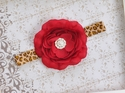 Mud Pie Large Red Flower Headband