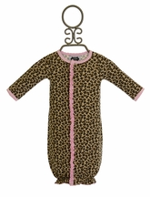 Mud Pie Leopard Gown and Sock Set