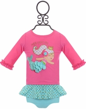 Mud Pie Mermaid Rash Guard and Bikini Set