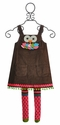 Mud Pie Owl Brown Corduroy Jumper for Toddlers