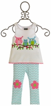 Mud Pie Owl Tunic and Leggings Set (0-6 Mos & 6-9 Mos)