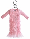 Mud Pie Pink Chiffon Baby Gown