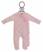 Mud Pie Pink Sleeper Minky