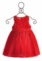 Mud Pie Red Rosette Holiday Dress for Girls