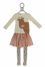 Mud Pie Reindeer Skirt Set for Girls