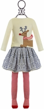 Mud Pie Reindeer Top and Skirt for Girls