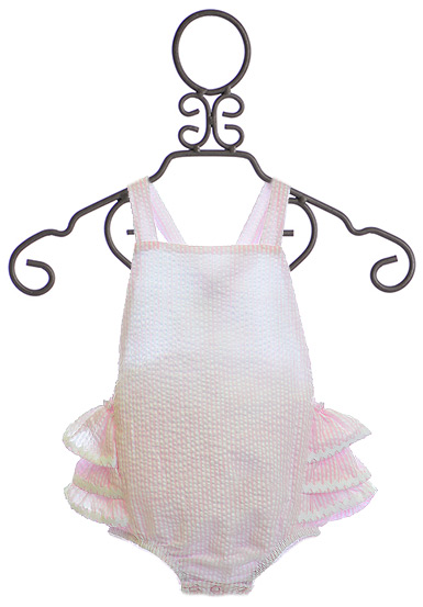 Mud Pie Seersucker Baby Romper