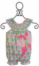 Mud Pie Smocked Infant Girl Romper (Size 0-3 Mos)