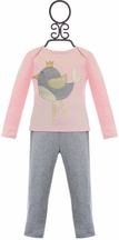 Mud Pie Tunic and Leggings Set for Girls with Bird (6Mos & 12Mos)