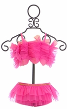 Mud Pie Tutu Ruffle Swimsuit in Pink (Size 2T)