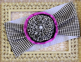 Muddy Feet Boutique Girls Headwrap in Gingham