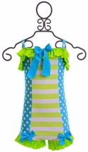 Muddy Feet Boutique Stripes and Dots Swimsuit (Size 6)