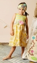 Mustard Pie Adelaide Girls Dress in Turquoise Lemonade