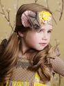 Mustard Pie Alice Wrap Headband in Yellow Dot