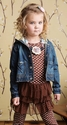 Mustard Pie Amelia Tunic for Girls Brown Polka Dots