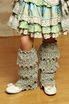 Mustard Pie Ankle Flairs for Girls in Sage