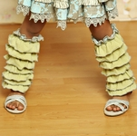 Mustard Pie Ankle Flairs for Girls Sweet Pea Blue (Size XS 12-24 Mos)