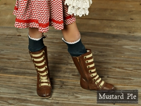 Mustard Pie Ankle Wraps in Navy (XS 12-24 MOS & SM 2T-4T)