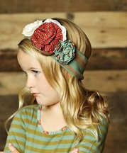 Mustard Pie Aqua Stripe Headband Knit