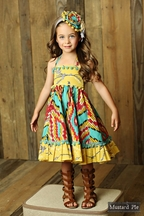 Mustard Pie Ashton Dress Sunset Dunes