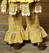 Mustard Pie Bella Pant in Natural Mustard Stripes (12Mos & 3T)