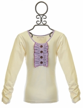 Mustard Pie Boutique Top for Girls in Ivory