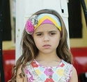 Mustard Pie Chevron Girls Headband