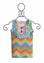 Mustard Pie Chevron Girls Top Harper