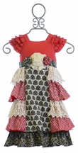 Mustard Pie Christmas Dress for Girls Delphine (Size 12Mos)