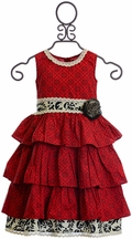 Mustard Pie Clara Dress Enchanted in Red (12Mos & 4)