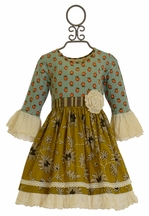 Mustard Pie Clover Twirl Dress for Girls
