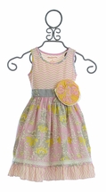 Mustard Pie Clover Twirl Dress in Sweet Pink (12Mos & 3T)