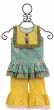 Mustard Pie Colette Romper Set for Baby Girls (Size 12Mos)