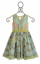 Mustard Pie Cozette Dress in Sweet Pea Blue (12Mos,18mos,24Mos,3T,4T)