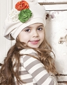 Mustard Pie Cream Lace Girls Gretchen Hat