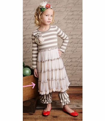 Mustard Pie Cream Lace McKenna Dress for Girls