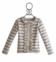 Mustard Pie Cream Stripe Stella Cardi for Girls (Size 18 Mos)