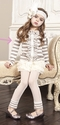 Mustard Pie Cream Stripe Stella Cardi for Girls