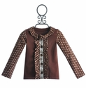 Mustard Pie Dark Brown Stella Cardigan for Girls
