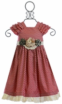 Mustard Pie Delphine Party Dress Red (12Mos,4,7,10)