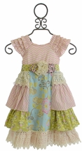 Mustard Pie Delphine Tea Party Dress in Pink (Size 2T)